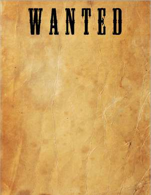 Montego Bayu0027s Most Wanted  Most Wanted Sign Template