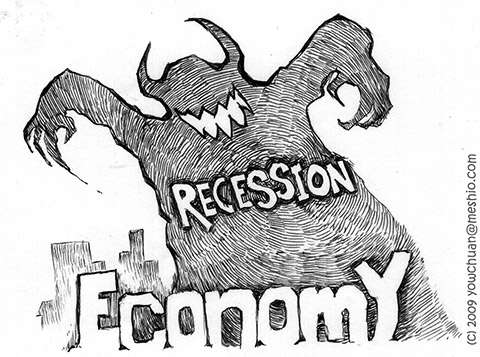 the economy is in a recession The financial crisis (wall street) spread to the real economy (main street) in the form of the recession we are currently experiencing while the recession became noticeable in late 2008, it actually started much earlier.