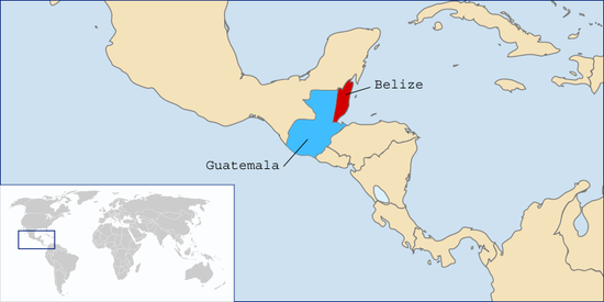 LocationBelizeandGuatemala