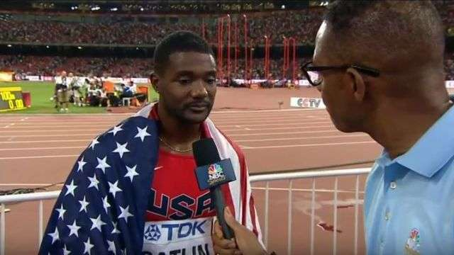 Justin Gatlin after loss