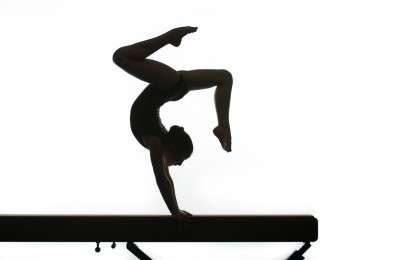 gymnastics silhouette