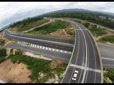 Toll Road Aerial View