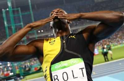 Usain Bolt Rio Salute