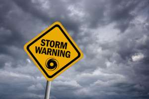 Storm warning sign