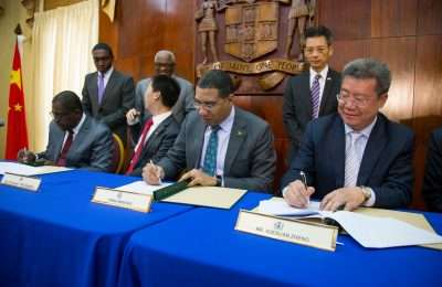 Holness-Chinese MOU Parliament