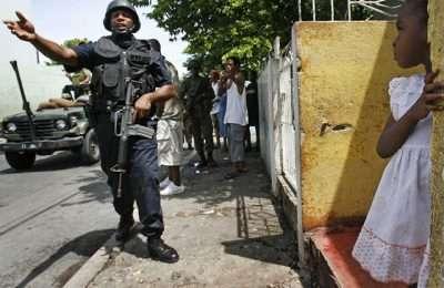 Jamaica Police Walking