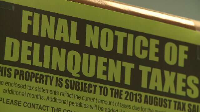 Tax Delinquent Warning
