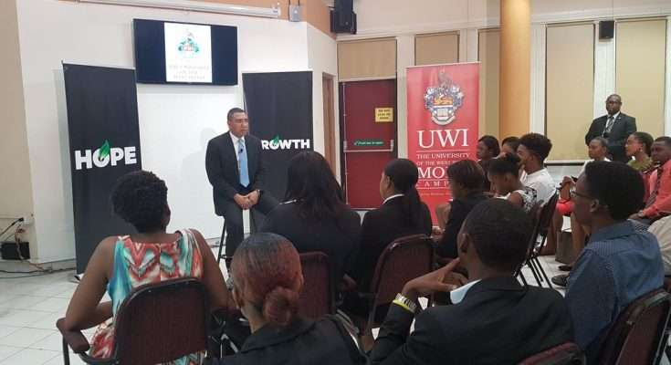 Holness at UWI