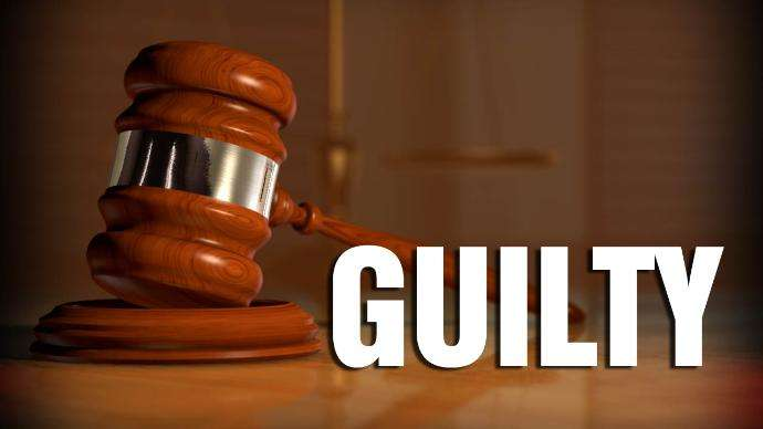 Guilty with gavel
