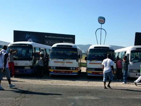 Hundreds of Spanish Town Taxi & Bus Operators Protest