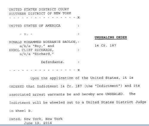 EXCLUSIVE: School Boy Richie's Indictment Documents