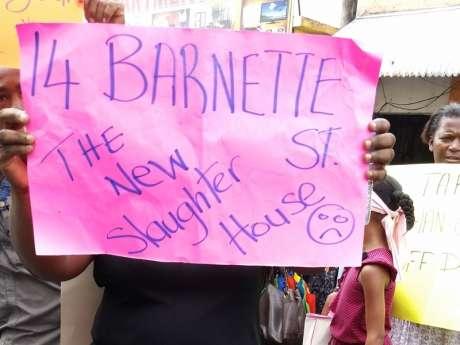 Montego-bay  Protest Mario Deane's Death