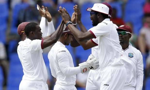 West Indies Reach 155/4 at Stumps Against England