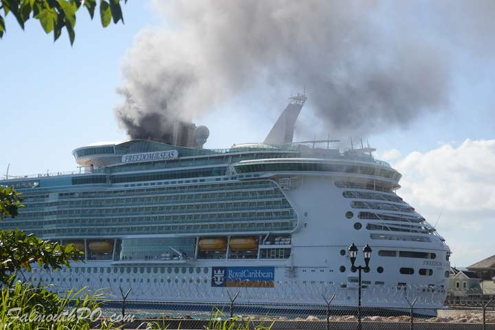 Crew Member Injured in Cruise Ship Fire