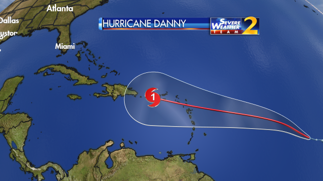 Danny Weakens to a Trough