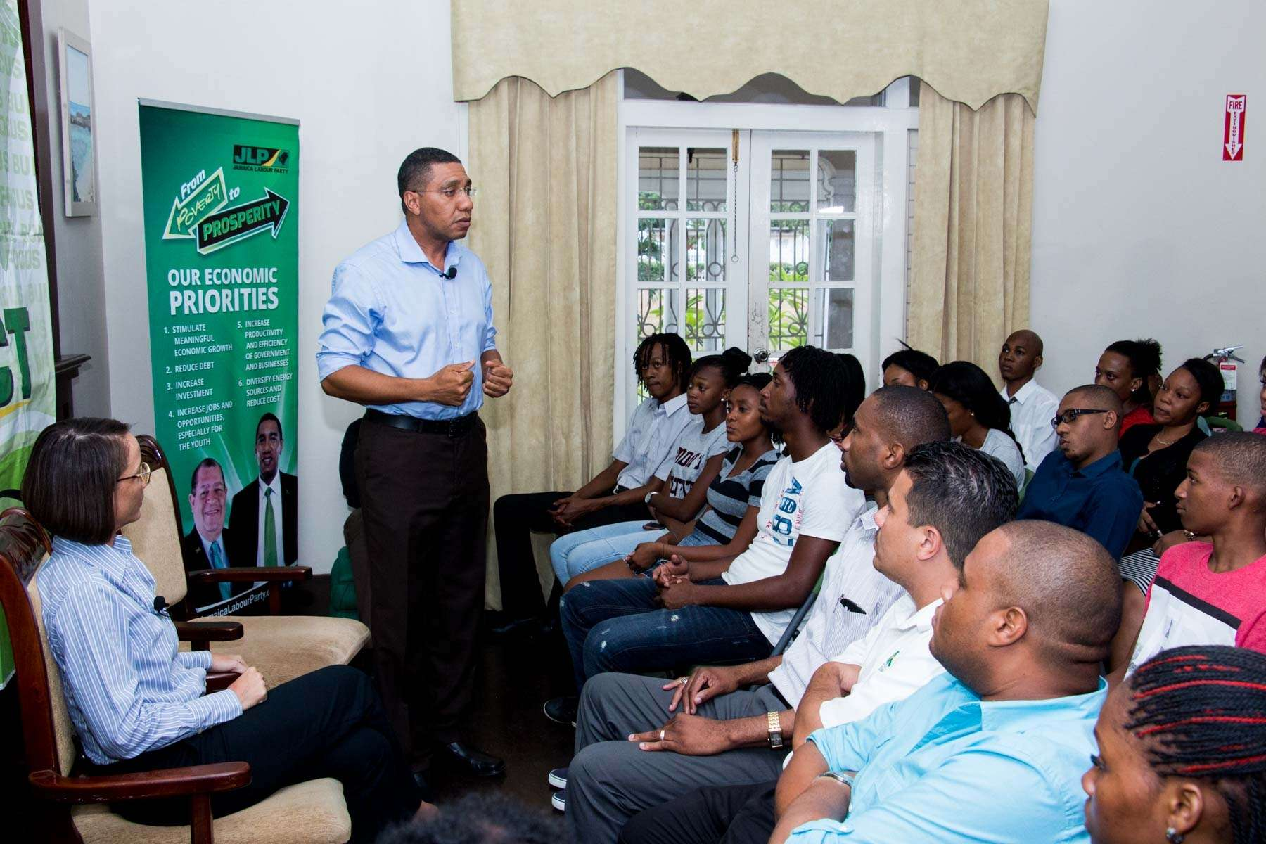 Holness Targeting Youth Vote