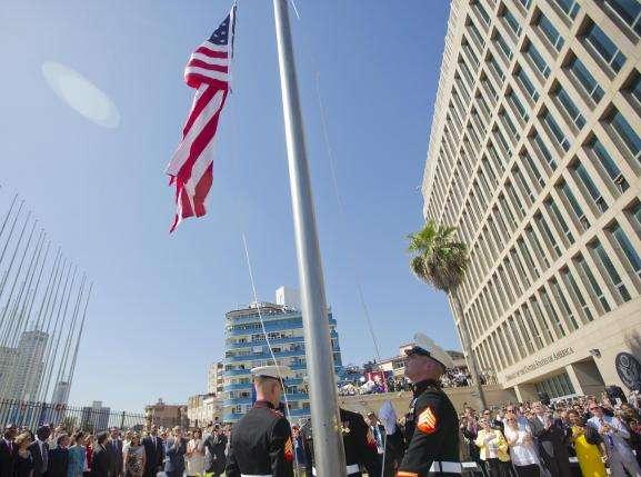 History! US Flag Raised in Cuba