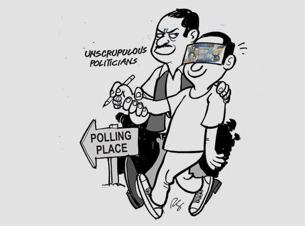 No Reports of Vote Buying