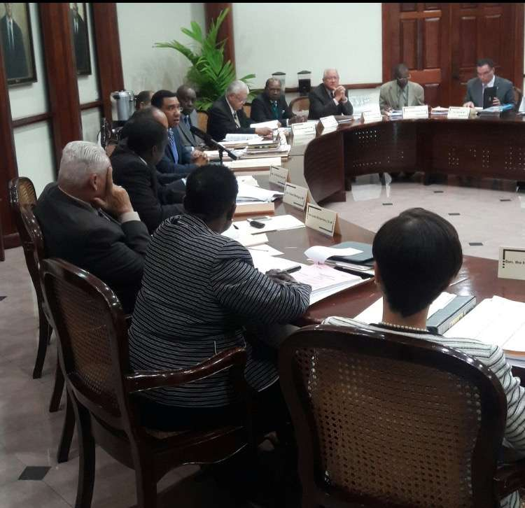 Holness Opens up First Cabinet Meeting