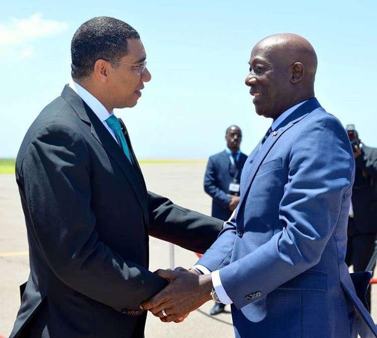 Holness & Rowley Meet in Kingston for Bilateral Talks