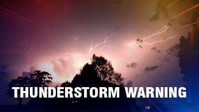 Thunderstorm Warning!