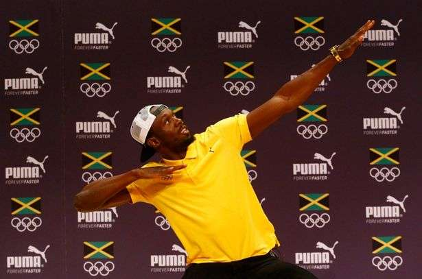 Statue of Usain Bolt complete.