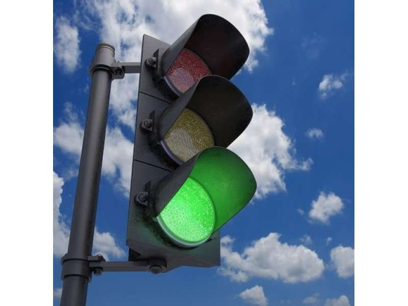 Vandals Damaging Corporate Area Traffic Lights
