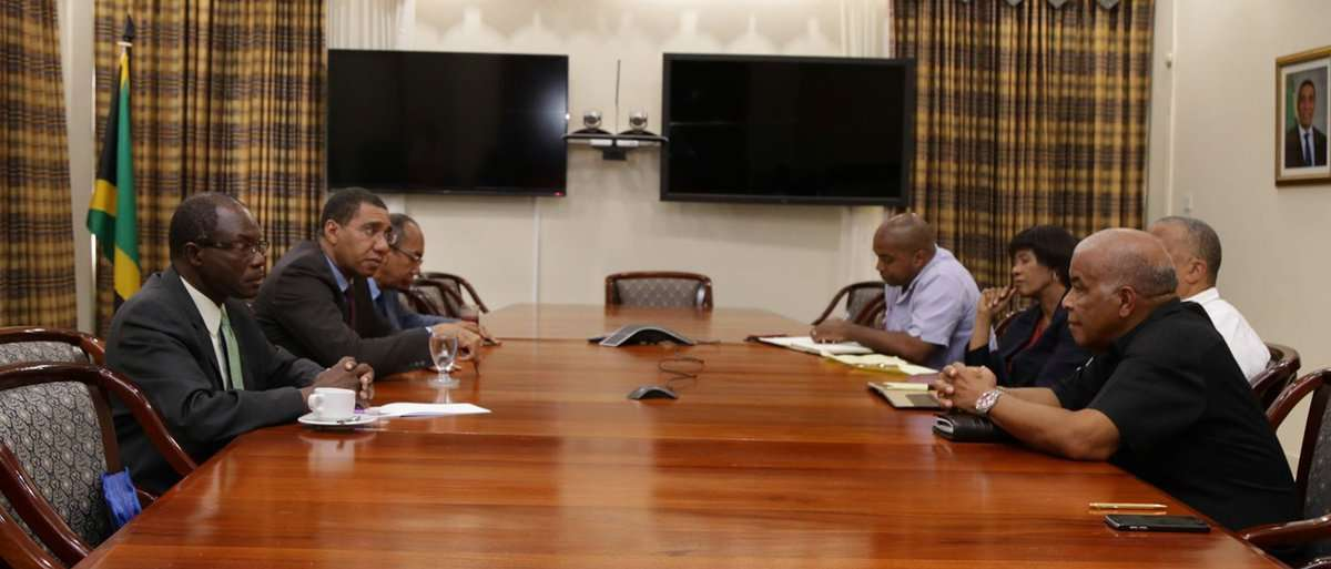 PM Holness Meets with Opposition over Controversial Bushing Programme