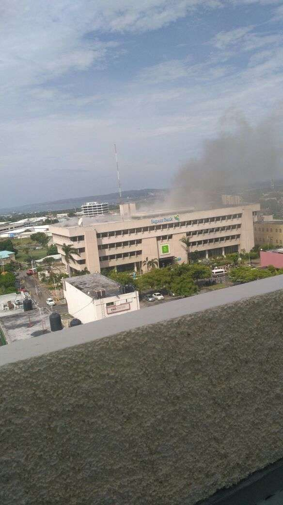 Sagicor Bank, New Kgn Closed to Determine Cause of Fire