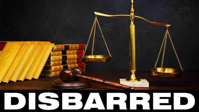 Attorney-at-law disbarred!