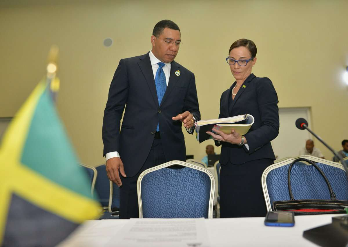 Holness Keeping Close Tabs on Crime while at CARICOM Heads Conference