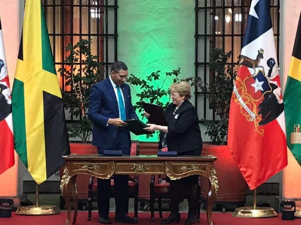 Jamaica and Chile Strengthen Bilateral Relationship