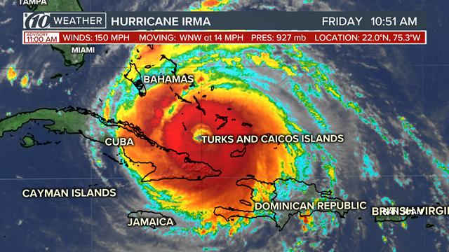 Jamaica Now Experiencing Impact of Hurricane Irma