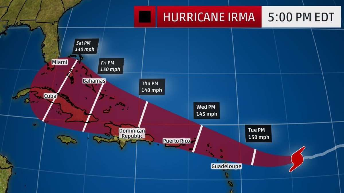 Hurricane Irma Strengthens to Category 4