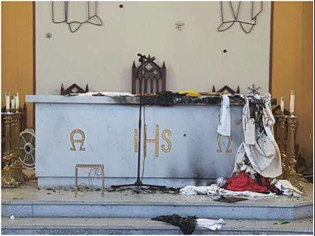 Arsonists Suspected of Attacking Sts Peter & Paul Church