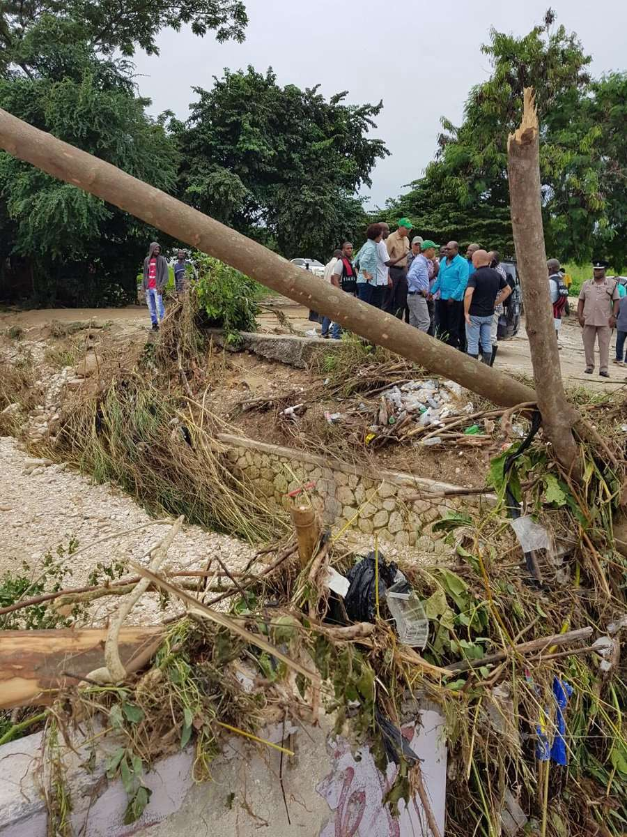 Montego Bay Clean-Up Begins Following Massive Flooding