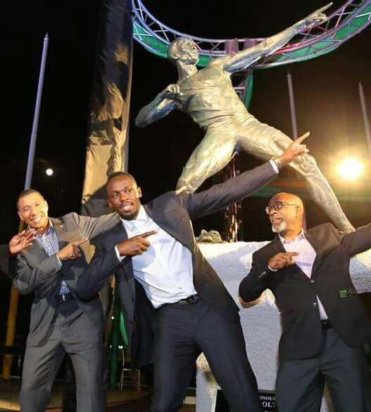 Bolt Humbled by Independence Park Statue