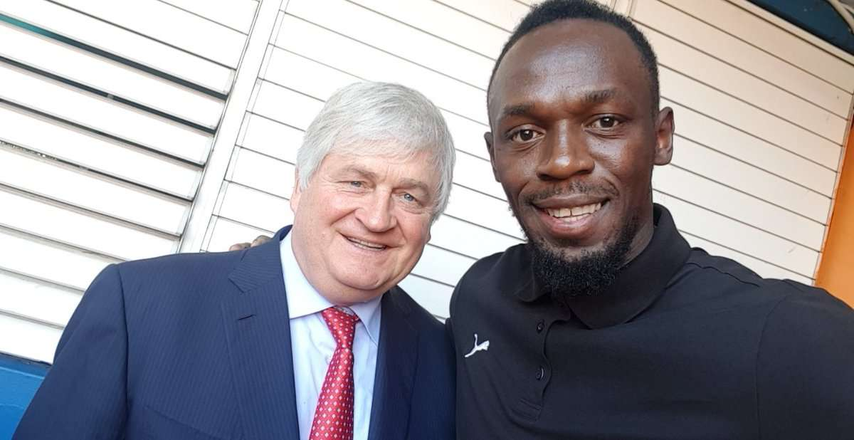 Bolt Urges Tivoli High Students to Reach for the Stars