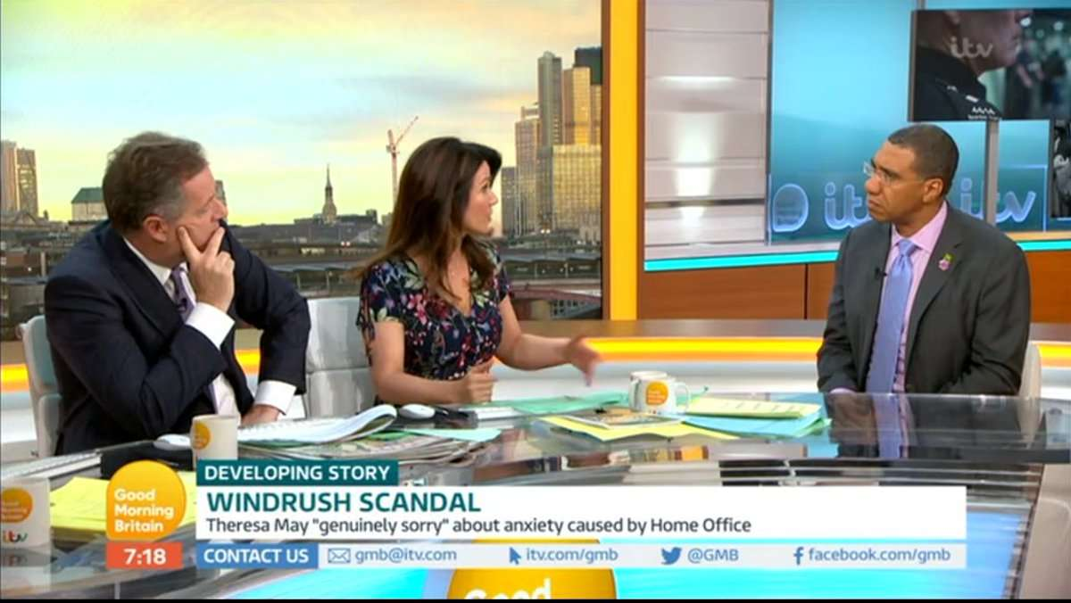 Holness Bemoans 'Disgraceful' Treatment of Windrush Generation in GMB appearance
