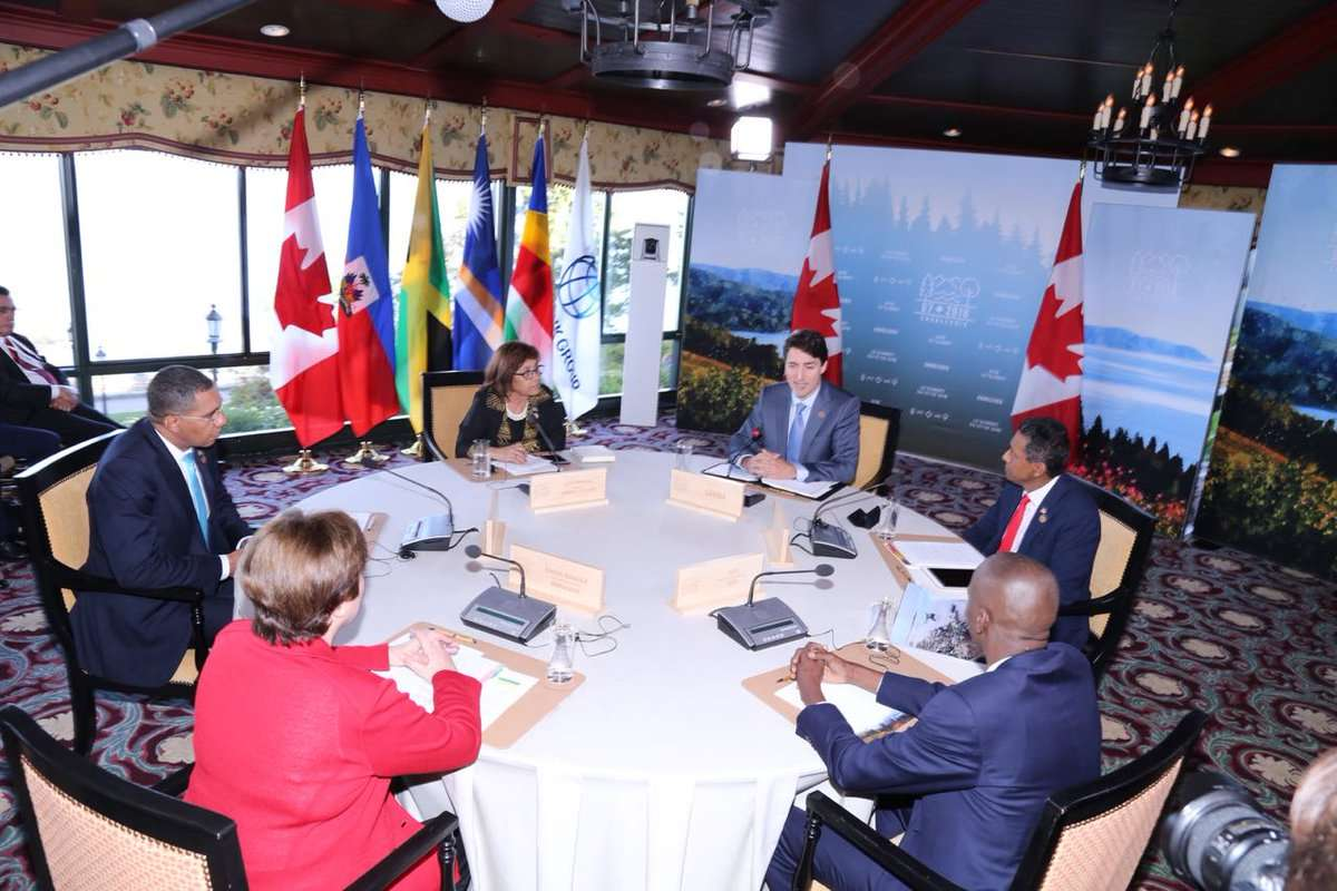 Holness Urges G7 to Help SIDS Build Disaster Resilience