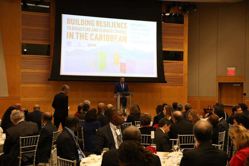 Holness Urges IMF to Combat Effects of Climate Change