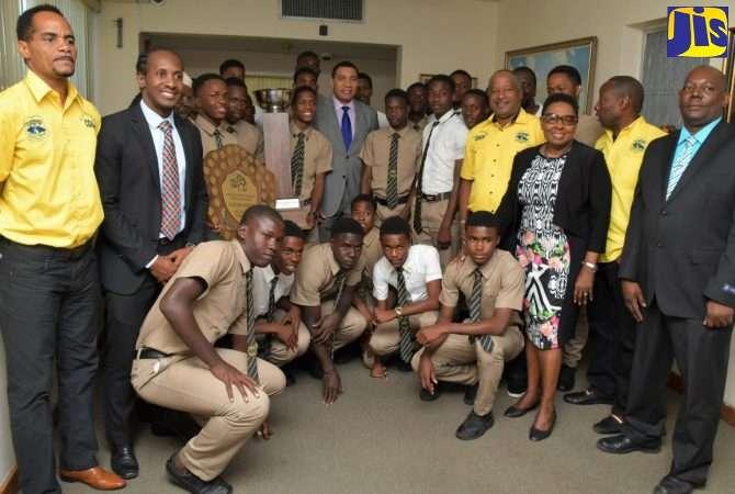 Parliament Lauds Schoolboy Football Champions, Clarendon College