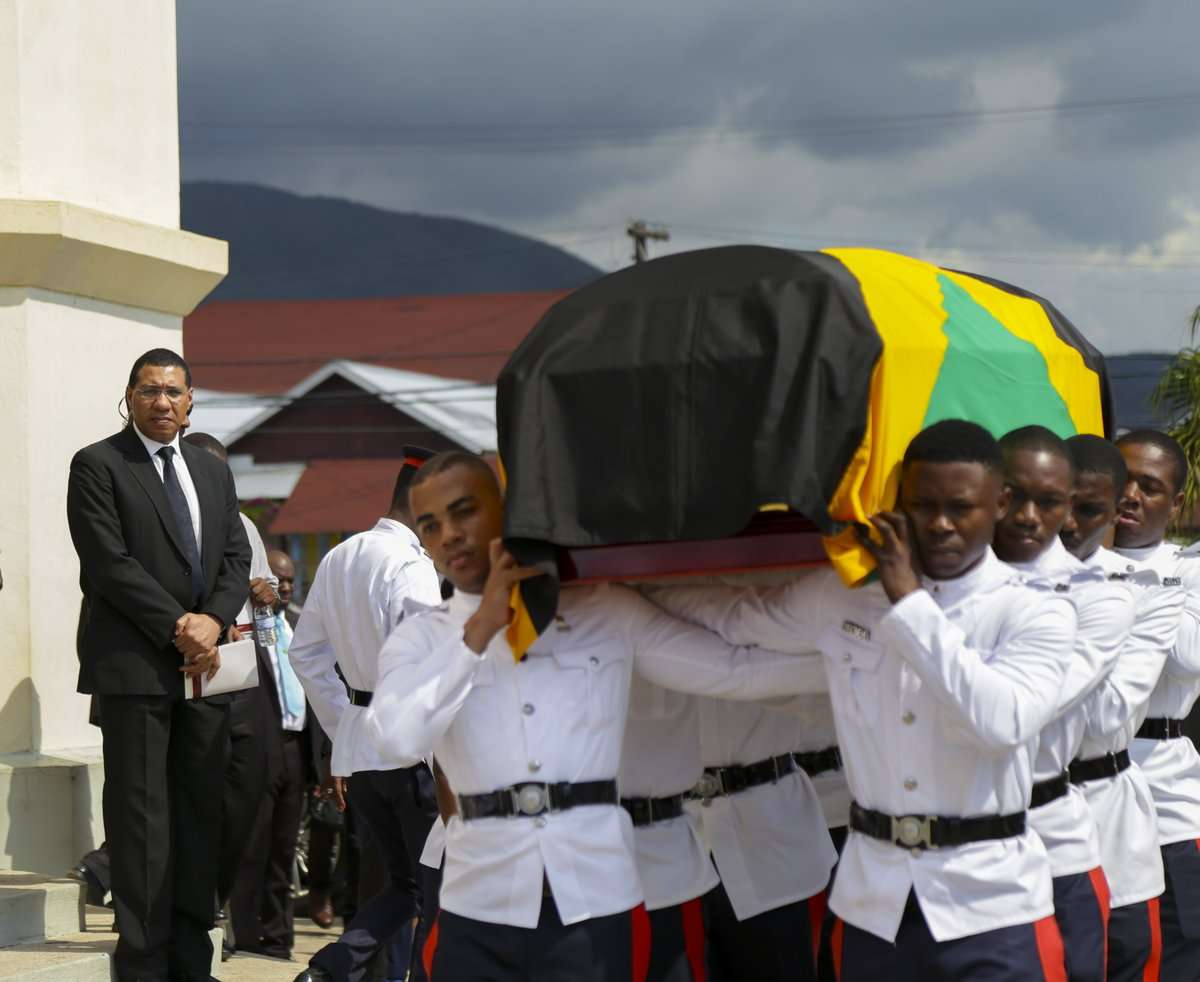 Former Security Minister Dwight Nelson Laid to Rest