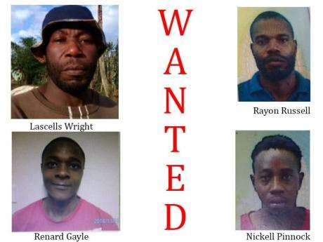 Trelawny Police Seek 4  Wanted Men