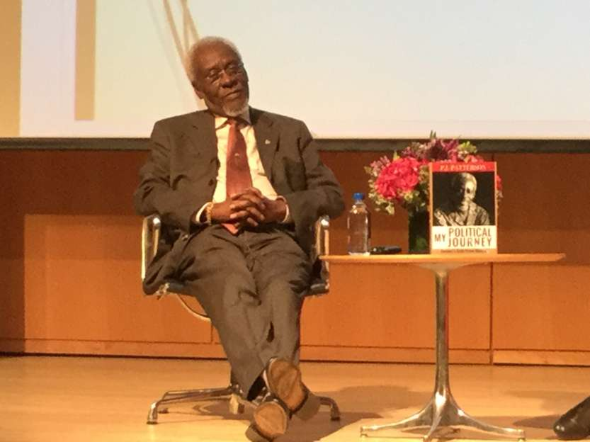 At His Book Launch,  Patterson Calls For Deeper CARICOM Integration