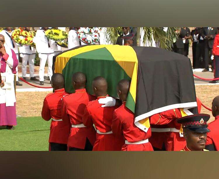 Edward Seaga Is Buried Next To Hugh Shearer, Miss Lou At National Heroes Park