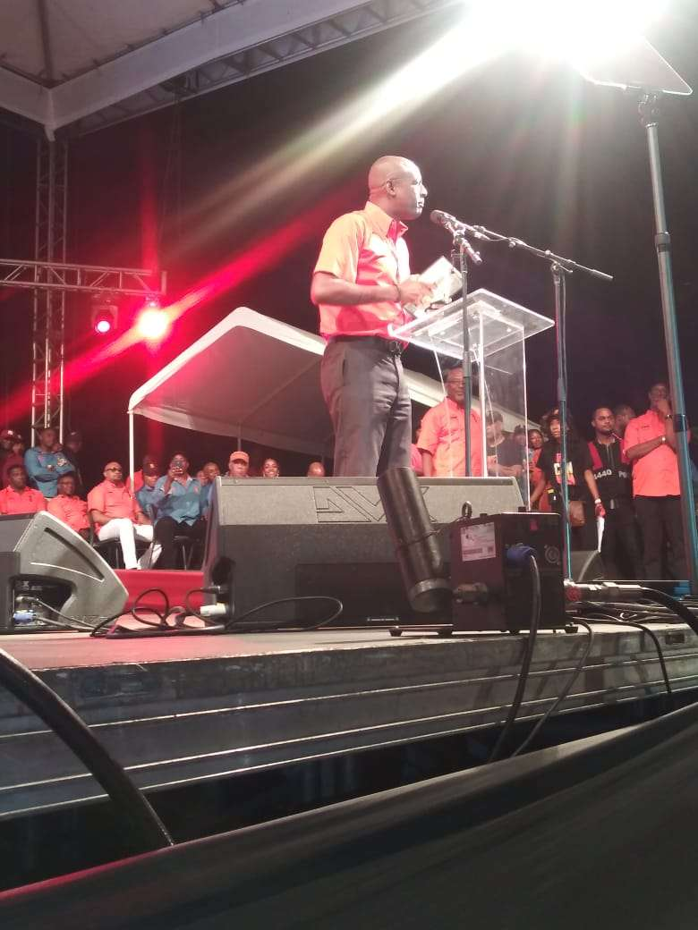 'The People V. The Hierarchy'  Hayles Attacks PNP Officials At Bunting Campaign Launch
