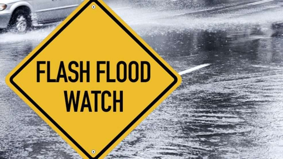 Flash Flood Warning In Effect For Several Parishes