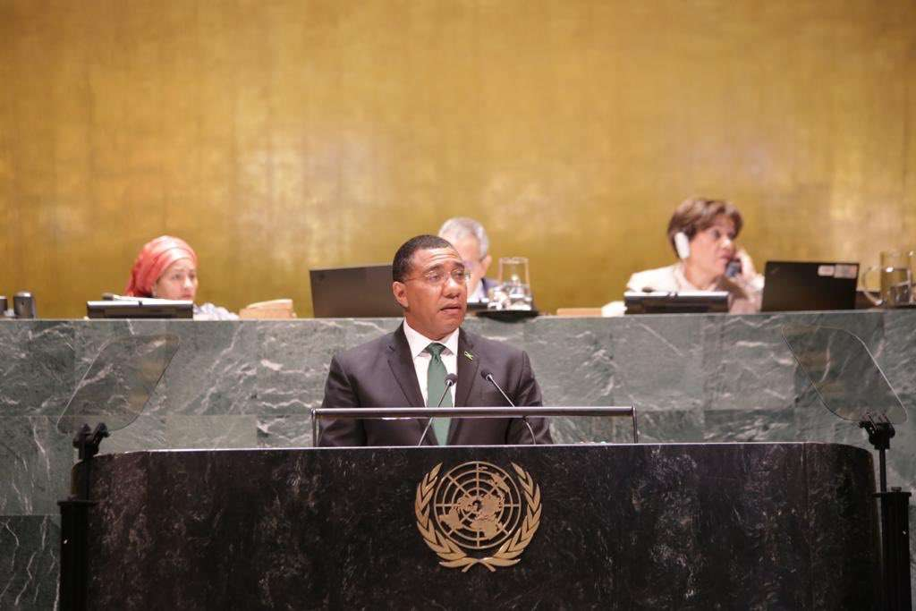 At UN, PM Holness Calls For More Resources To Implement 2030 SDGs