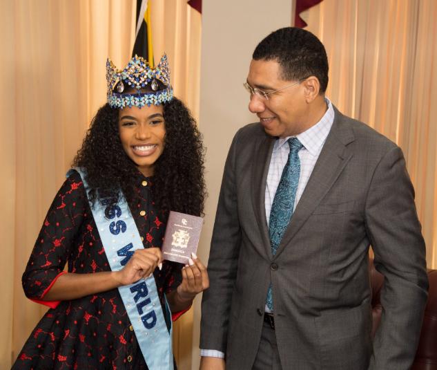 Miss World 2019, Toni-Ann Singh, Made Ambassador & Granted Diplomatic Passport